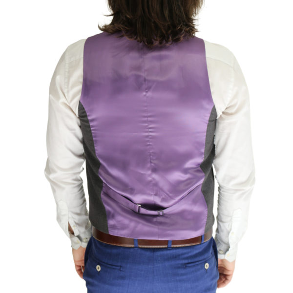 Without Prejudice vest lilac back