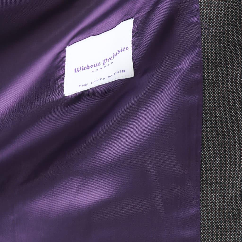 Without Prejudice waistcoat lining