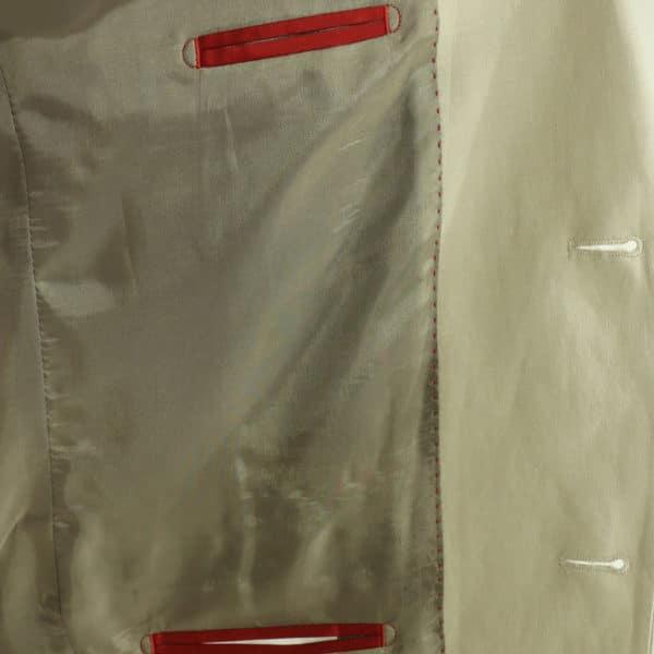 beige linen suit lining
