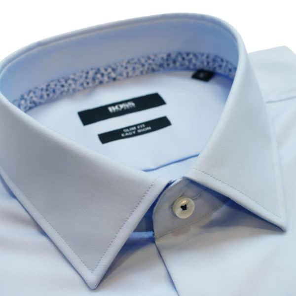 boss shirt blue collar