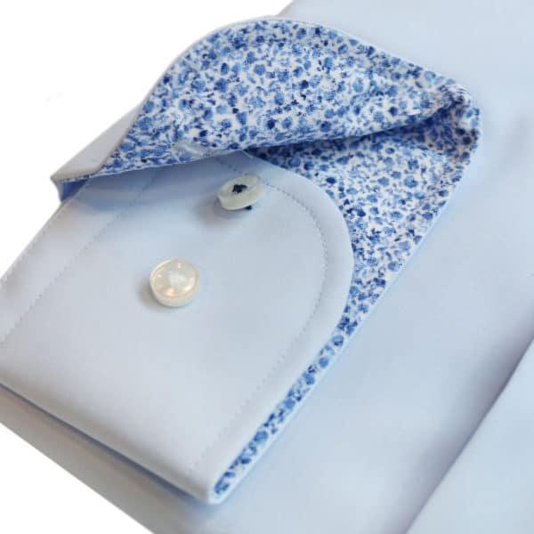 boss shirt blue sleeve