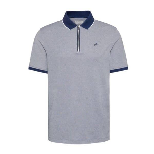 bugatti zip neck polo shirt
