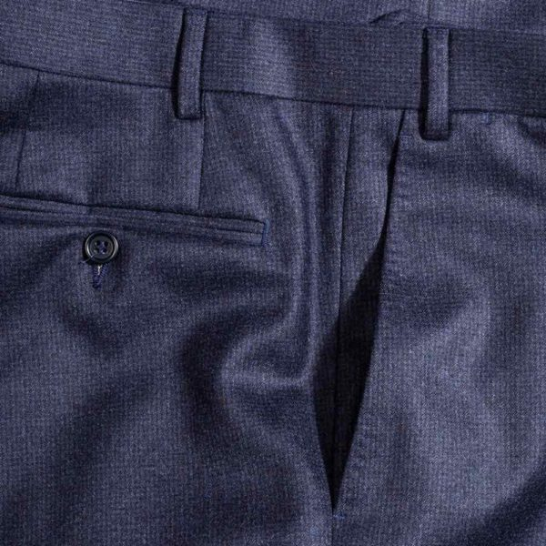 canali charccoal pinhead trousers