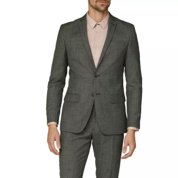 canali gray wool suit front