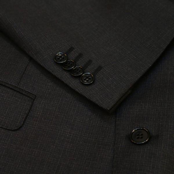canali suit charcoal button detail
