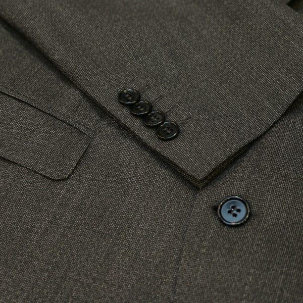 canali suit charcoal button detail2