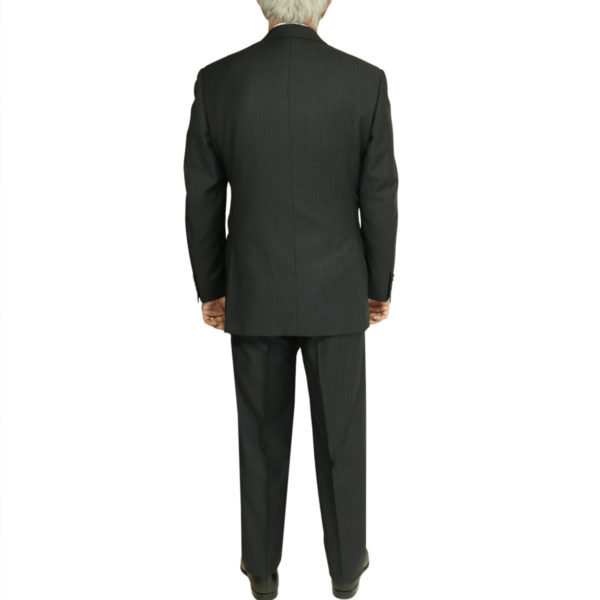 charcoal stripe suit back