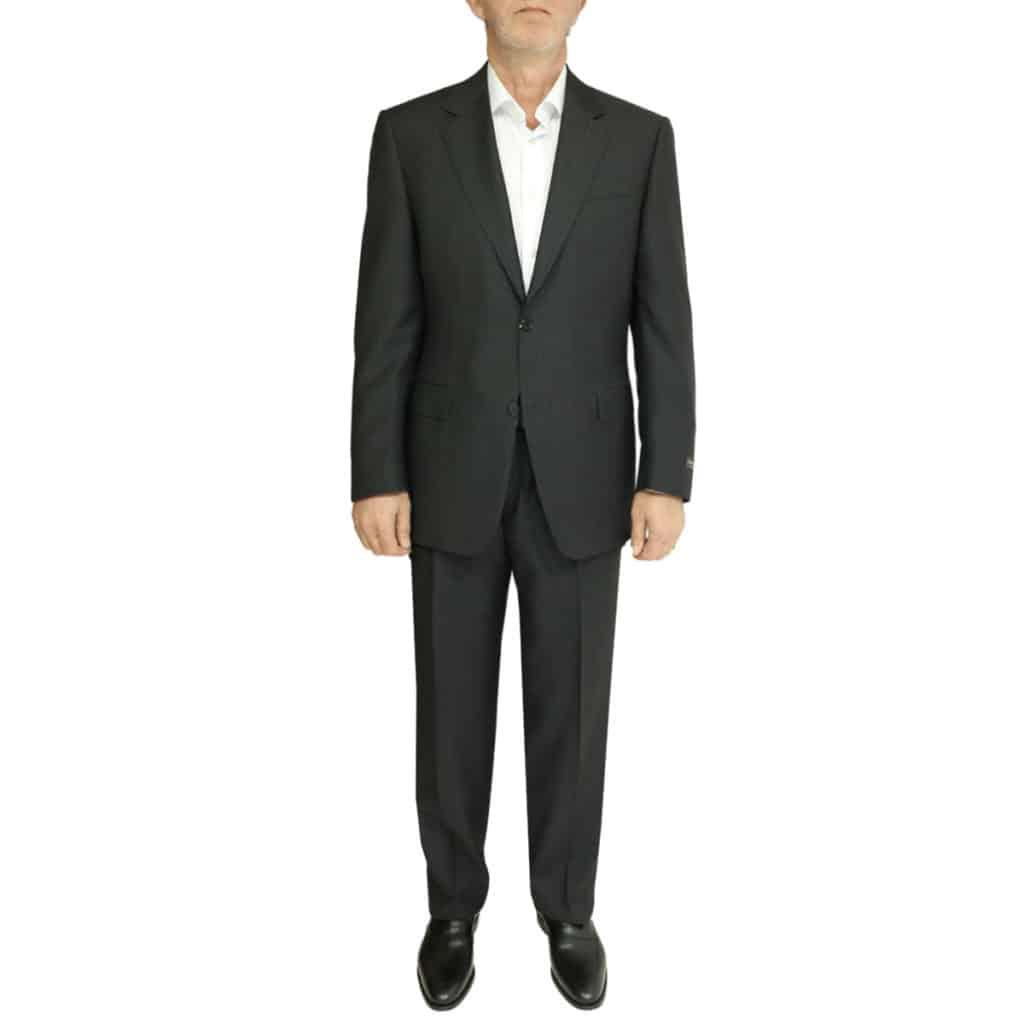 charcoal stripe suit front