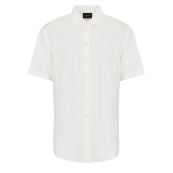 emporio armani white short sleeve