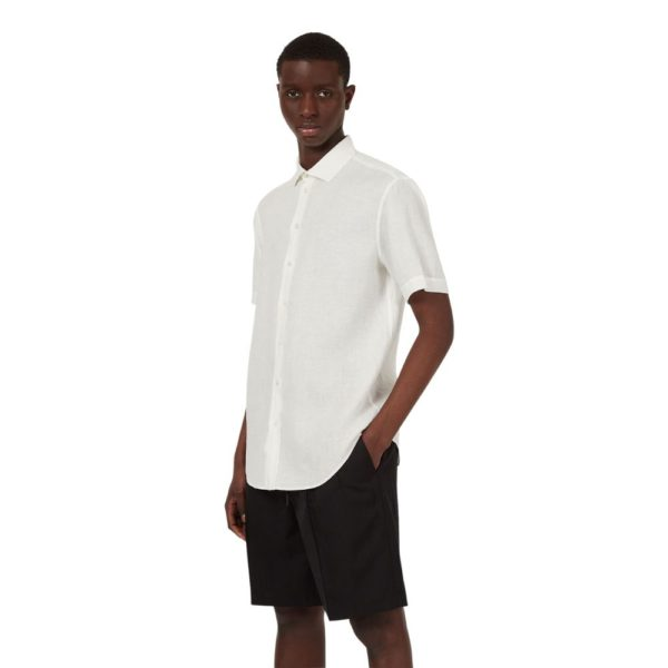 emporio armani white short sleeve full size
