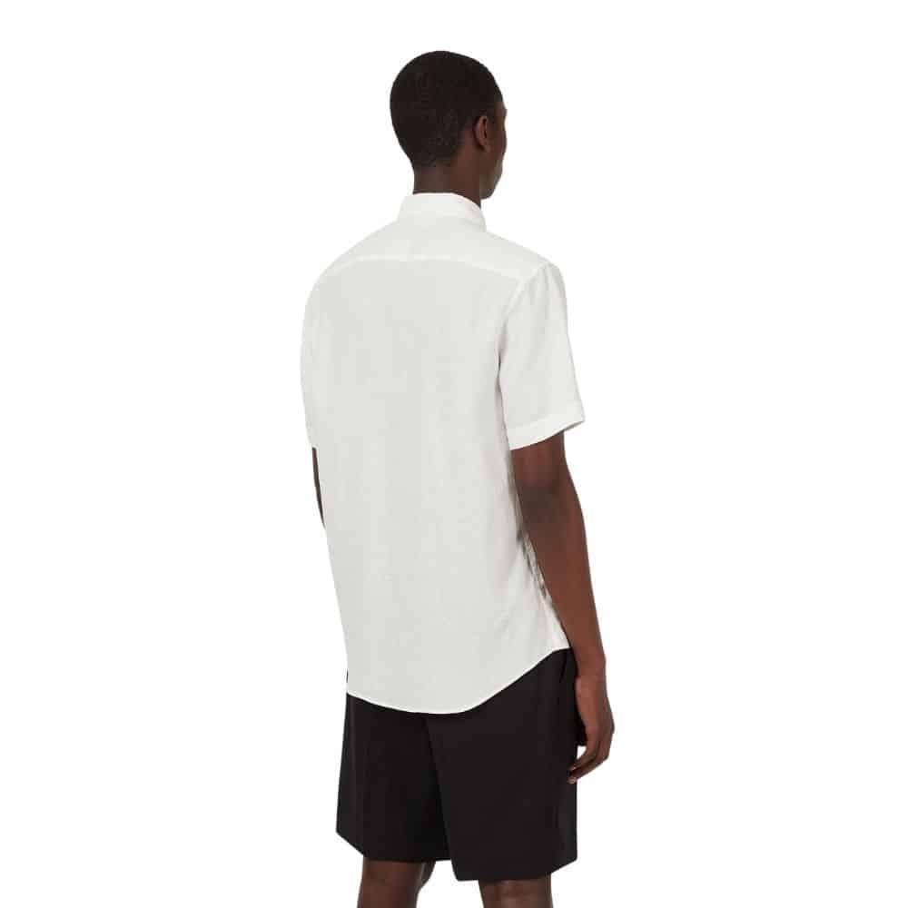 emporio armani white short sleeve full size back