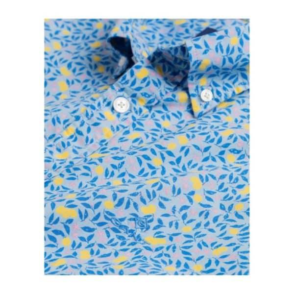 gant Lemonade Print short Sleeve shirt collar