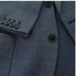 hackett blue pique sleeve