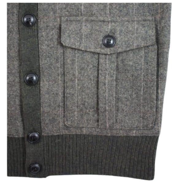 hackett button cardigan pocket