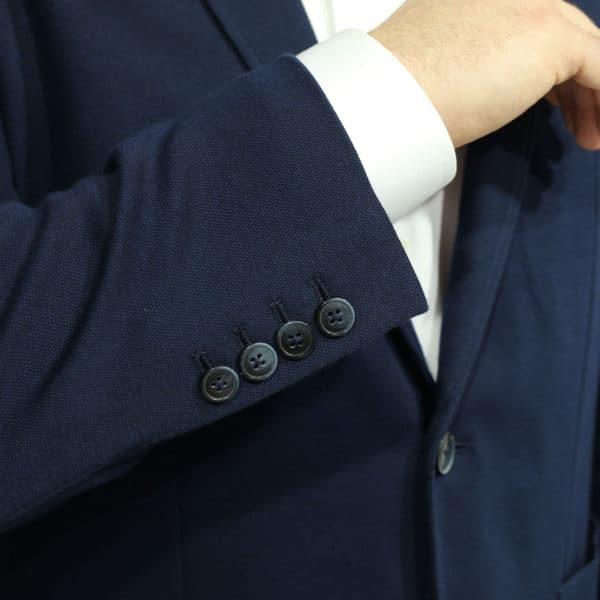 hackett jacket dark navy inside cuff buttons