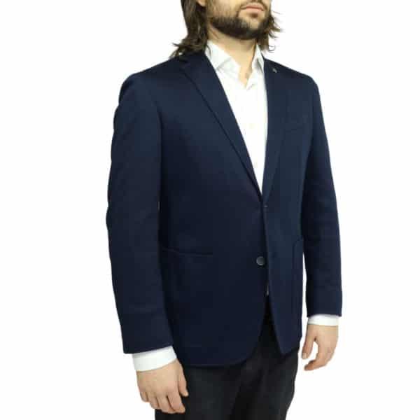 hackett jacket dark navy side