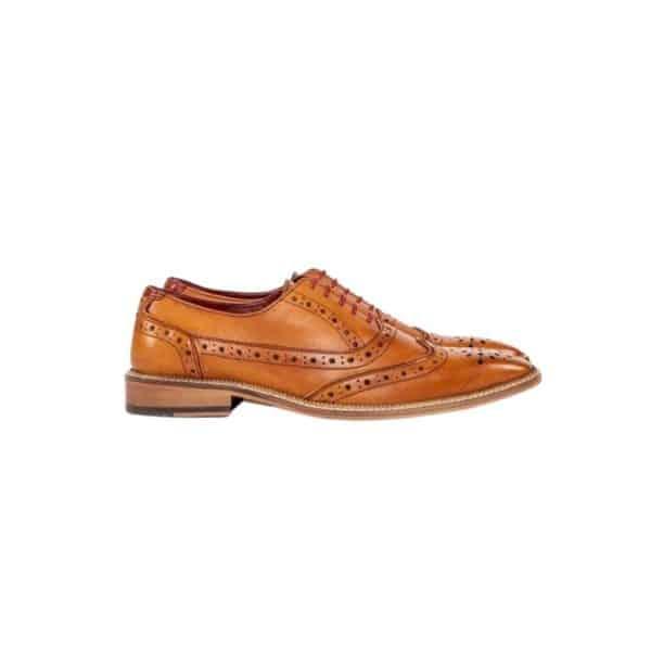 marc darcy tan shoe side