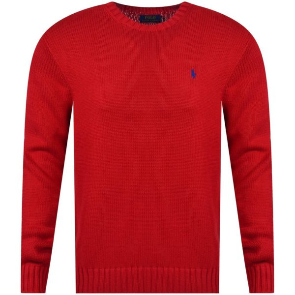 polo ralph lauren red logo cotton knit jumper p17009 43740 image