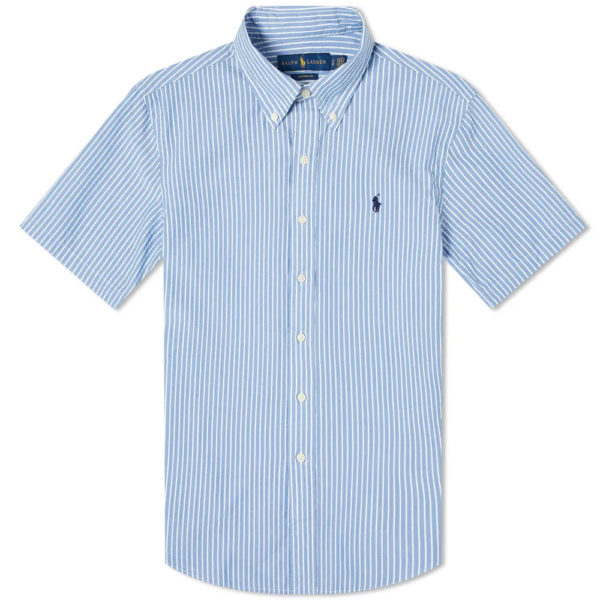 polo ralph lauren short sleeve slim fit striped seersucker shirtlight 710795250007 1 1