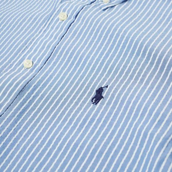polo ralph lauren short sleeve slim fit striped seersucker shirtlight 710795250007 2 1