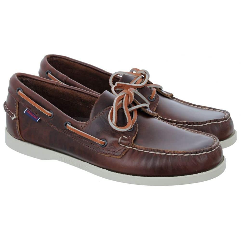 sebago docksiders brown