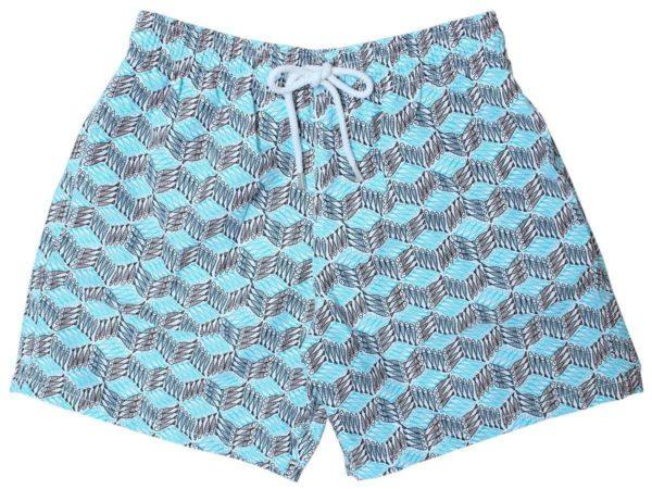 vilbrequin blue cube fish swim shorts moorea fit 01
