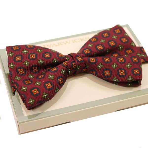 warwicks bow tie burgundy flower