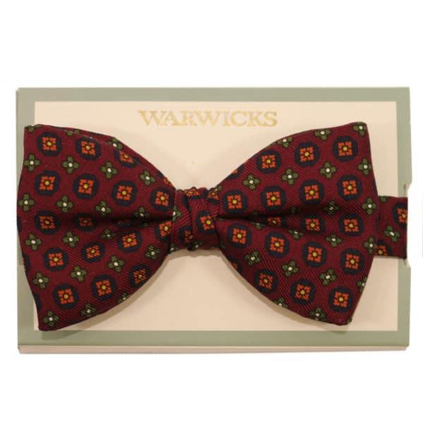 warwicks bow tie burgundy flower2