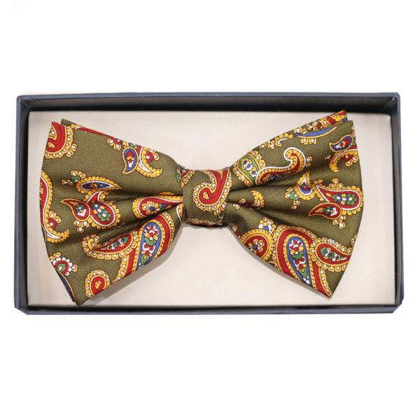 warwicks bow tie green paisley