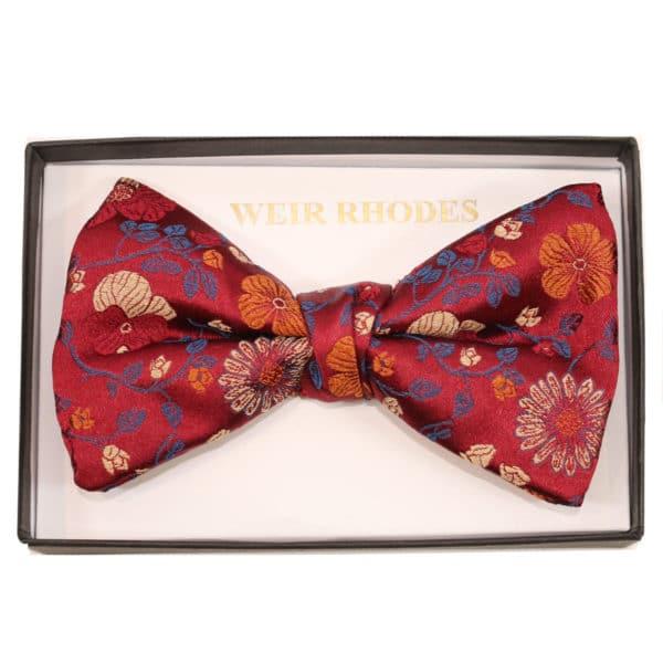 warwicks bow tie red flower