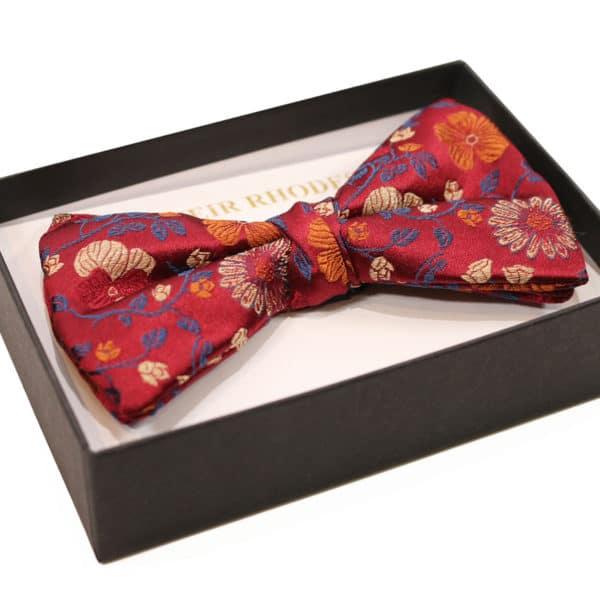 warwicks bow tie red flower side