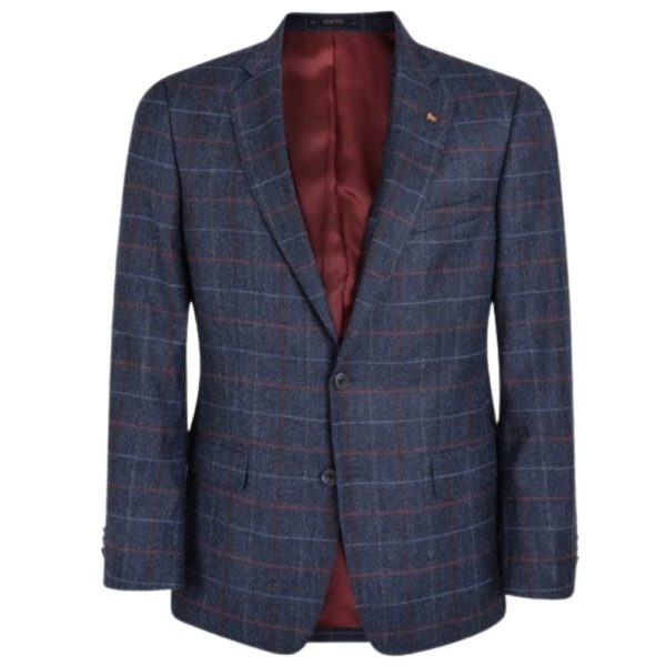 warwicks navy tweed