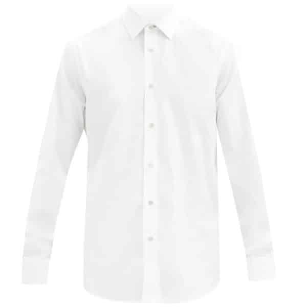 white armani poplin shirt1