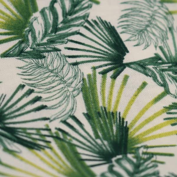 Amanda Christensen pocket square PLANTS GREEN close up