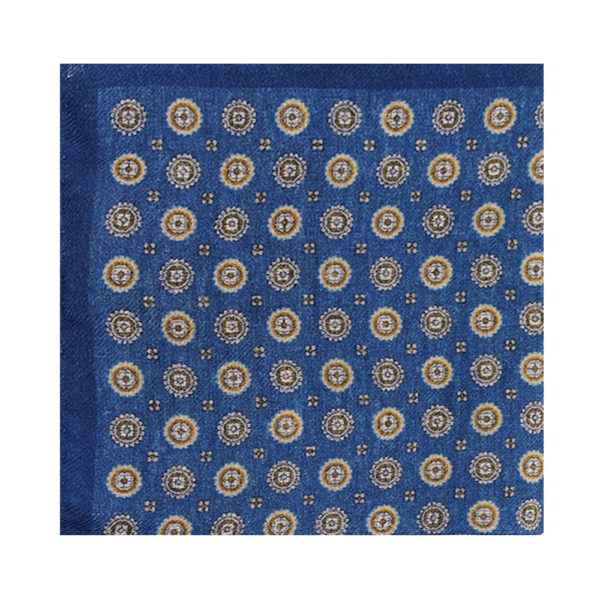 Amanda Christensen pocket square blue pattern
