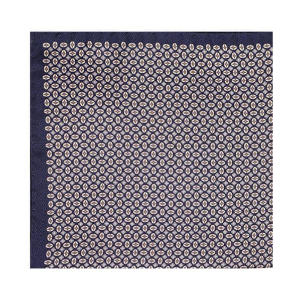 Amanda Christensen pocket square blue shapes main