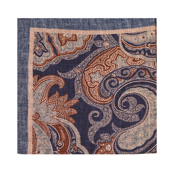 Amanda Christensen pocket square chambray paisley main