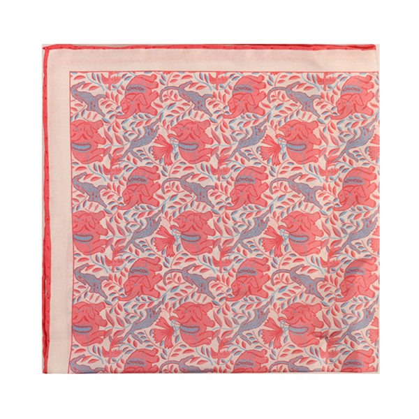 Amanda Christensen pocket square elephant red main