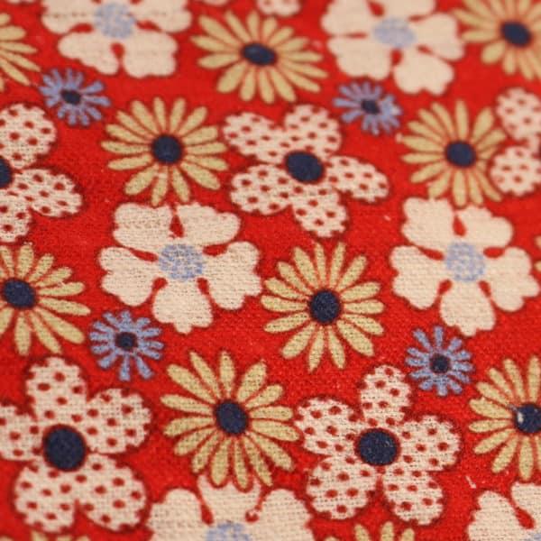 Amanda Christensen pocket square flower print red close up