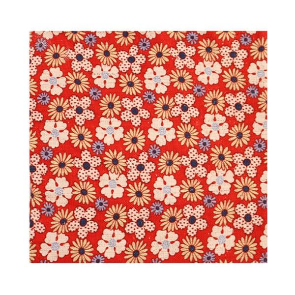 Amanda Christensen pocket square flower print red main