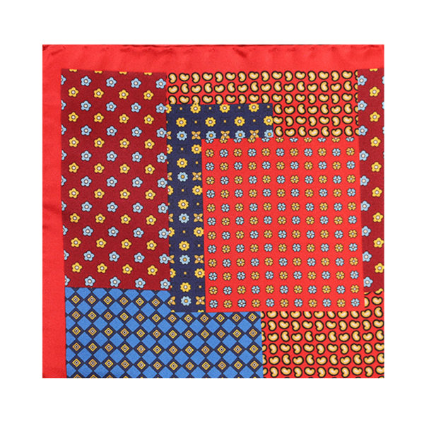 Amanda Christensen pocket square mixed red main