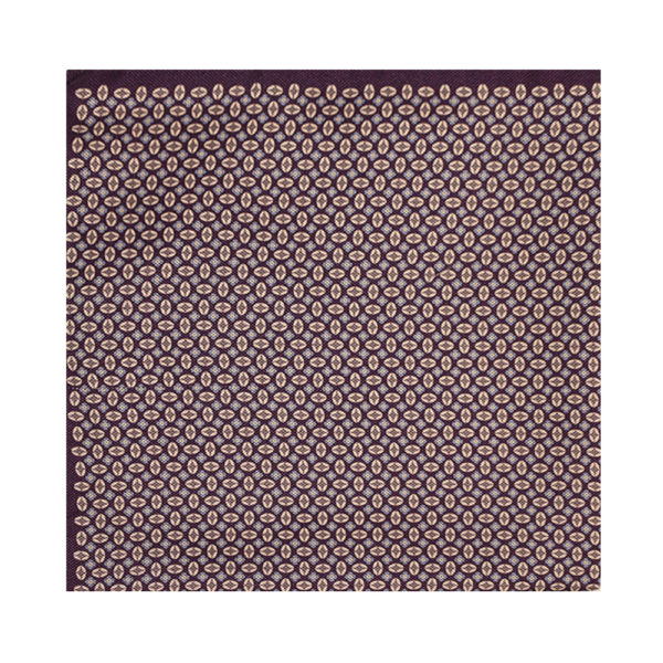 Amanda Christensen pocket square purple shapes main
