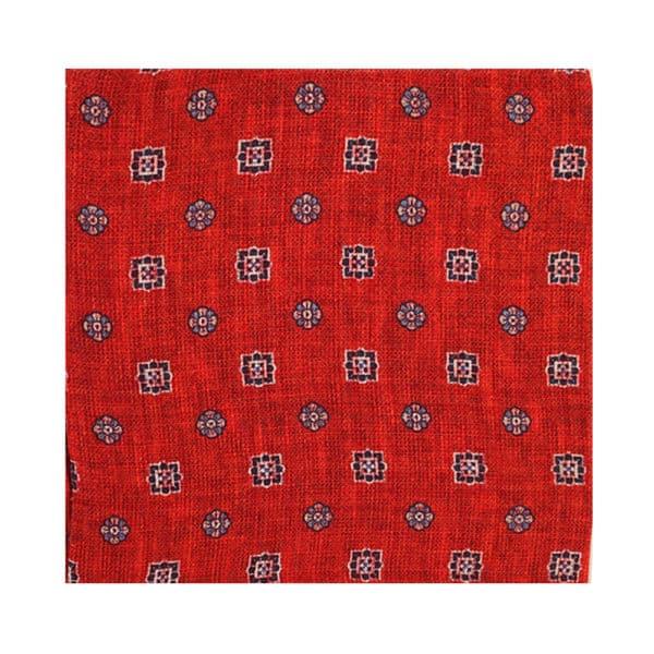 Amanda Christensen pocket square red buttons main