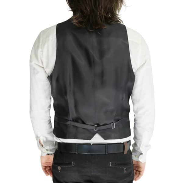 Armani black vest back