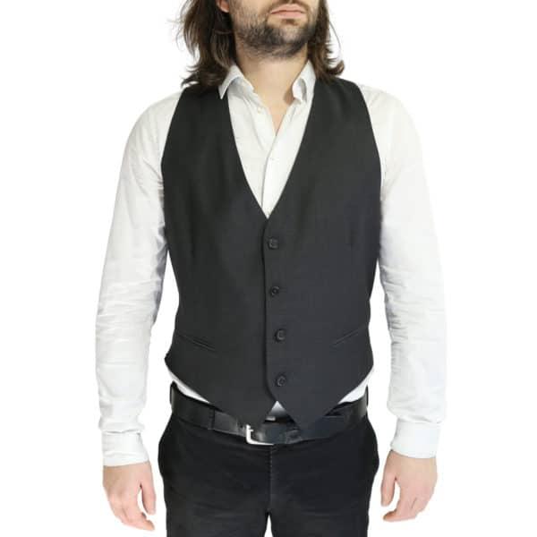 Armani black vest front