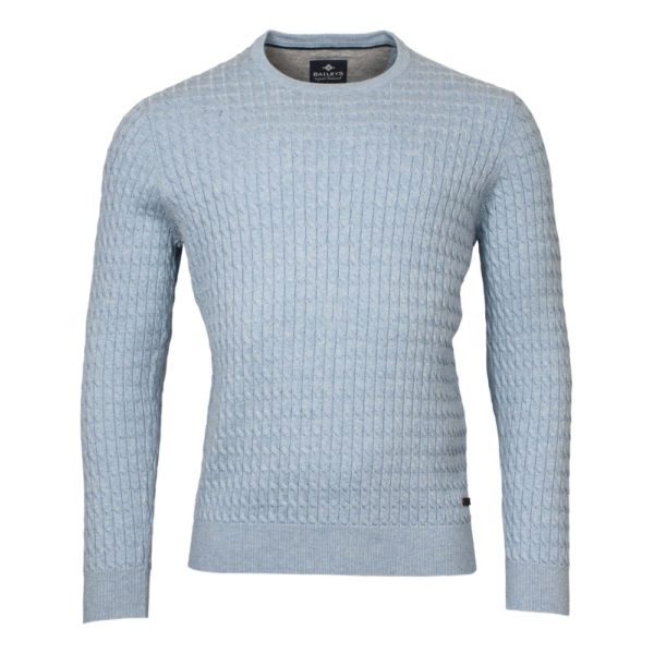 BAILEYS CABLE KNIT JUMPER BLUE
