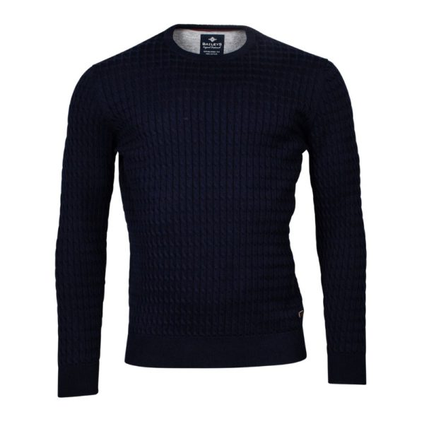 BAILEYS CABLE KNIT JUMPER NAVY
