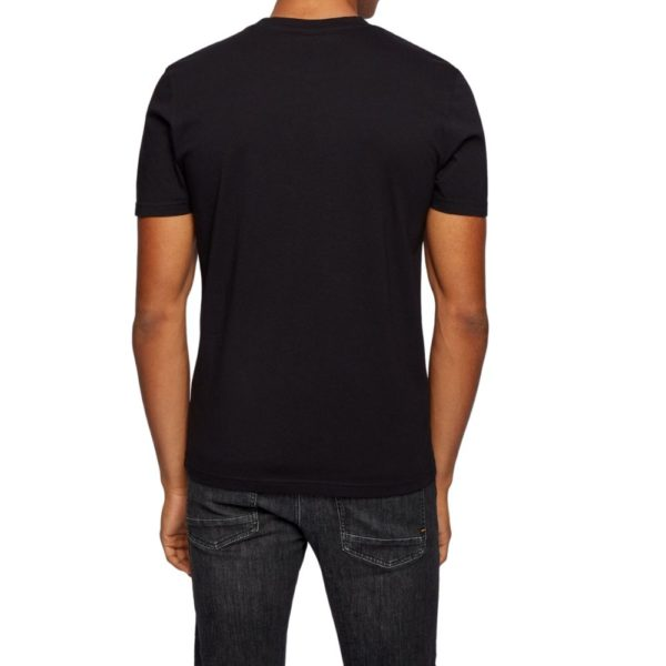 BOSS black Cotton jersey T shirt with underwater print rear