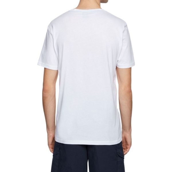 BOSS white Cotton jersey T shirt with underwater print rear