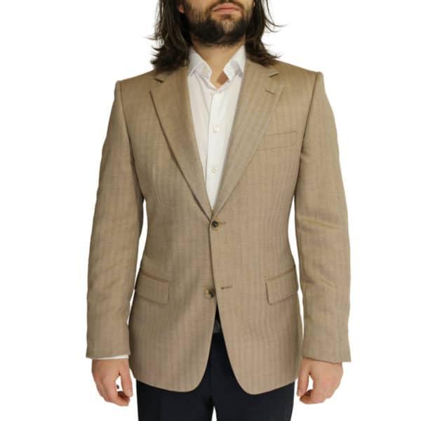 Boss soft beige herringbone jacket